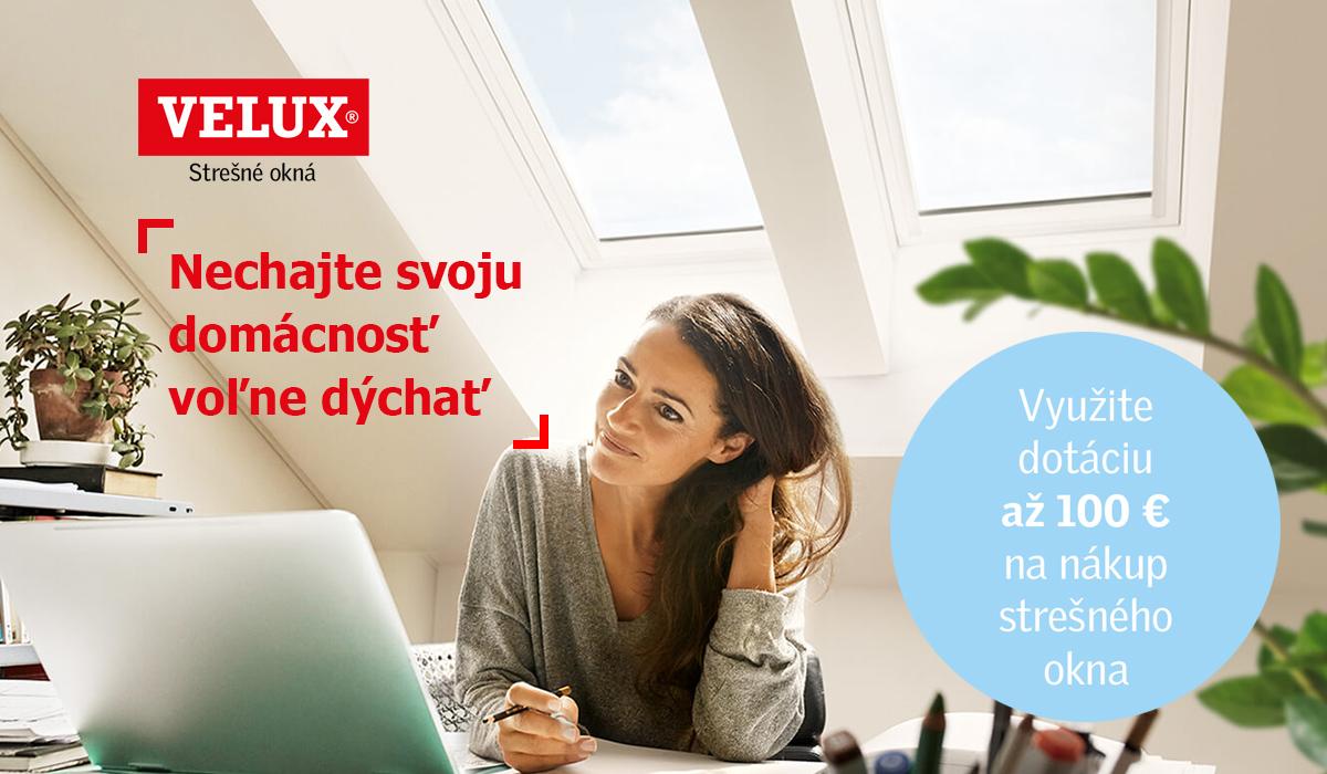 Strešné okno s dotáciou až 100 EUR!